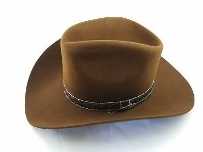 07a8d778c3520 VINTAGE NIB STETSON Billy the Kid Brown Cowboy Hat 6 7 8 -  50.00 ...
