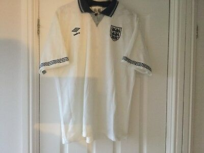 Rare England Home Shirt excellent condition  XLarge 1990/1992