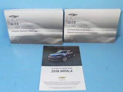18 2018 Chevrolet Impala owners manual BRAND NEW