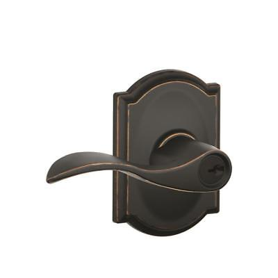 Schlage Accent Aged Bronze Keyed Entry Handle