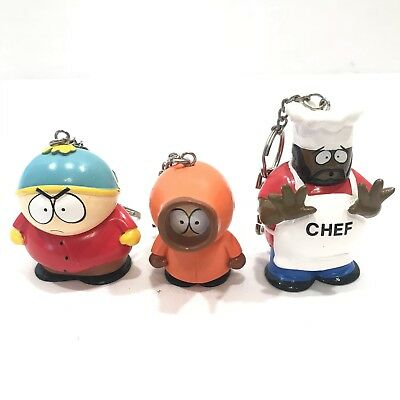 South Park Chef Kenny Cartman keychain figurine - vintage 90's RARE EXCELLENT