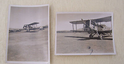 Small Photographs of RAF AIRCO DH9A's Dardoni North West Frontier India - c1923