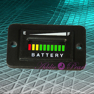 48 Volt Battery Charge Indicator EZGO,ClubCar,Golf Cart, Solar, ATV, Boat.RECT