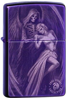 Zippo Choice Anne Stokes Gothic Angele Purple Abyss Windproof Lighter 29717 NEW