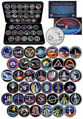 SPACE SHUTTLE DISCOVERY MISSIONS NASA Florida Statehood Quarters 39-Coin Set Box