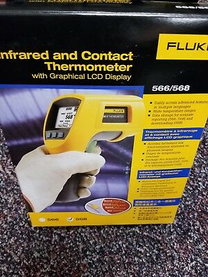 Fluke 568 IR Handheld Thermometer Infrared with LCD Display