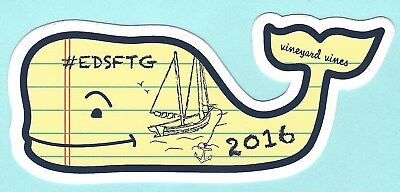 Vineyard Vines Nautical Looseleaf Paper Yellow Style Design Whale Sticker Decal