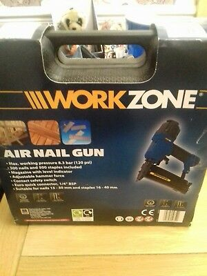 Air Nail Gun Brand New In Box. Work zone