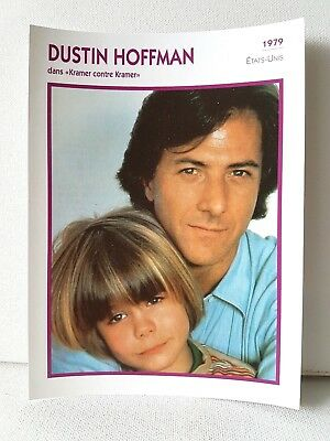 DUSTIN HOFFMAN 1979 Actor Movie FRENCH ATLAS PHOTO BIO CARD Kramer