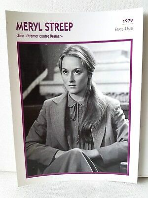 MERYL STREEP 1979 Actor Movie FRENCH ATLAS PHOTO BIO CARD Kramer