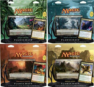 Planechase 2012 Deck Set of Four (ENGLISH) FACTORY SEALED NEW MAGIC MTG ABUGames