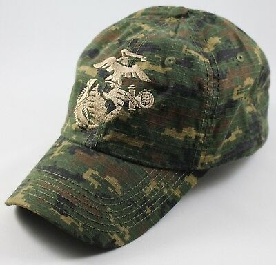 707d4910f89 USMC United States Marine Corps - EGA Eagle Globe   Anchor Hat Digital Camo