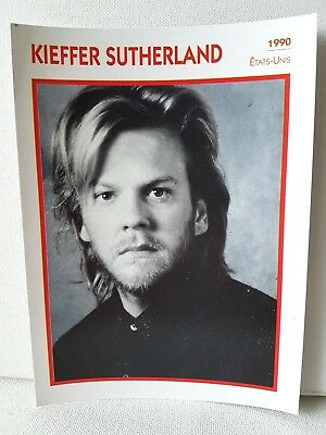 KIEFFER SUTHERLAND 1990 Actor Movie FRENCH ATLAS PHOTO BIO CARD