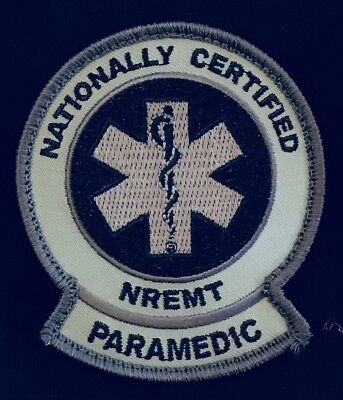 "Paramedic Tactical GRAY Subdued NRP NREMT TEMS TCCC TECC 3.5"" Patch, Hook Back"
