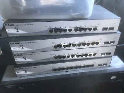 DGS-1210-10P 10-Port Gigabit Web Smart Switch Including 2 SFP Ports Ethernet