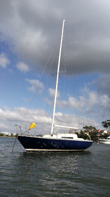 Sailing Yacht 25 foot fibreglass. Mooring included