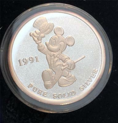 Rarities Mint Disney Art Coin Mickey Mouse .999 Fine Silver 1 Troy Oz.