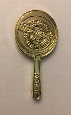 Hard Rock Cafe 2017 Gold PIN MASTER MAGNIFYING GLASS Pin LE 126 of 200 #91848