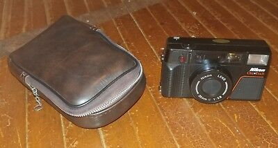 Vintage Nikon One Touch 35mm Camera with Case Made in Japan WORKS No Film