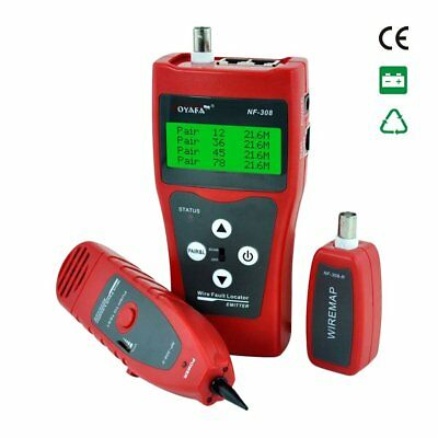 Noyafa Portable Wire Fault Locator LCD Display Cable Tester Line Finder LPES