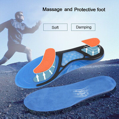 Men's Gel Orthotic Sport Running Insoles Insert Shoe Pad Arch Support Cushion KY