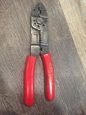 """Klein Tools Multi-Purpose Electrician's Wire Cutter and Strippe Red 8.5"""""""