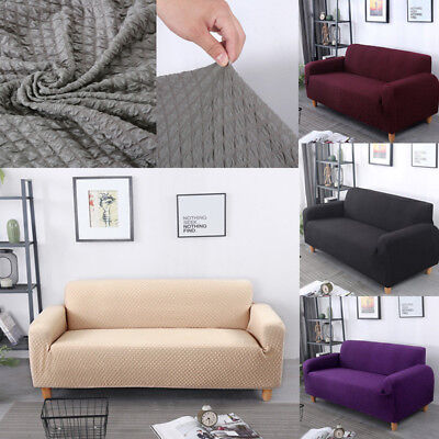 Knitted Elastic Stretch Couch Sofa Slipcover Protector Dust Cover Furniture Grid