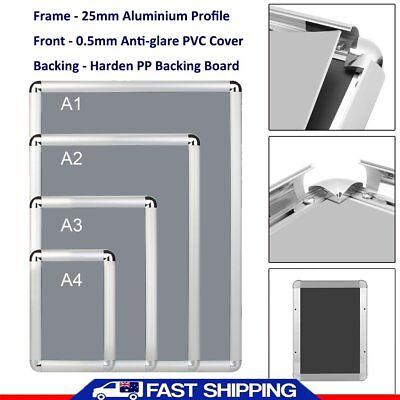 A1/A2/A3/A4 Aluminum Alloy Poster Frame Paper Photo Picture Frame Wall Mount LP