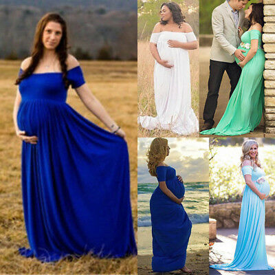 Cotton Pregnant Women Maxi Dresses Maternity Gown Photography Props Photo Shoot