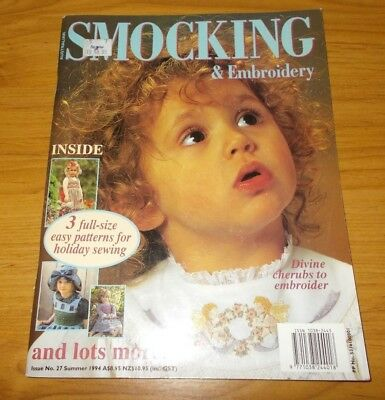Australian Smocking & Embroidery Magazine Issue #27~Pattern Sheets Attached~1994