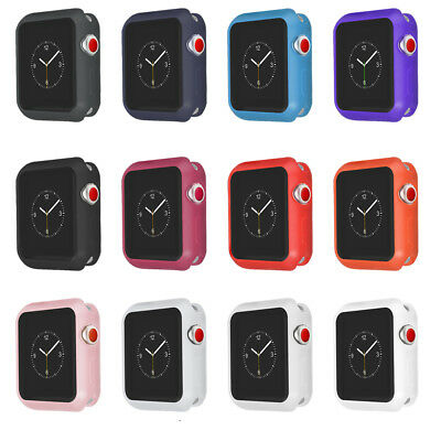 For iWatch Case Soft Sport Bumper Protective Cover Apple Watch Series 4/3/2/1