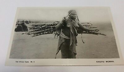 KIKUYU WOMAN NUDE EAST AFRICA, PHOTO POSTCARD  c. -1940's  ESTAF KODAK NAIROBI