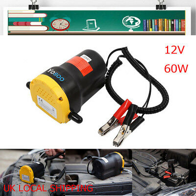 Electric 12V 60W Transfer Oil Fuel Diesel Extractor Pump Siphon Car Motorbike UK