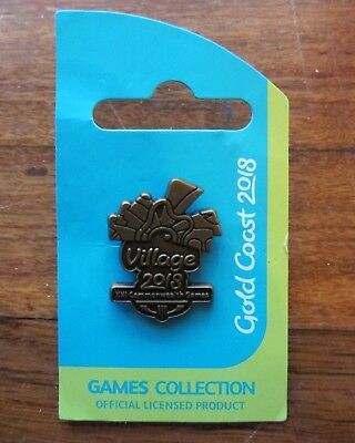2018 Gold Coast Commonwealth Games Village Australia Pin With Card