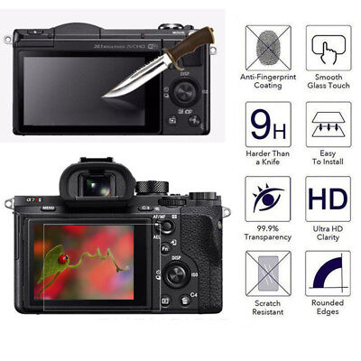 LCD Screen Protector Tempered Glass Shield Guard Film for SONY A6000 A6500 A7 II