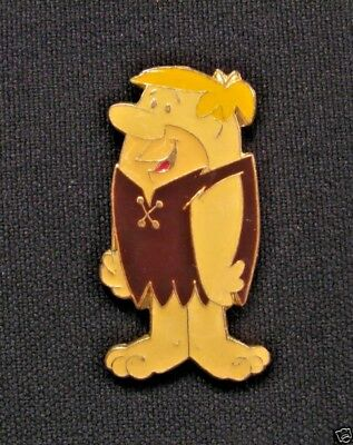 Barney Rubble Official 1987 Vintage Enamel Pin Uk Import Wilma Fred Flintstone