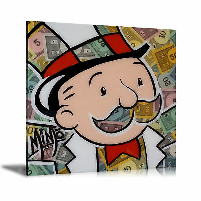 Alec Monopoly HD Print Oil Painting Decor Art on Canvas MiMo Monopoly Unframed
