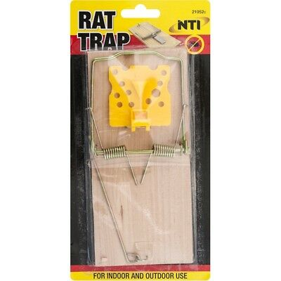 Traditional Wooden Rat Mouse Large Trap Quick Spring Fast Action Kill 21052C