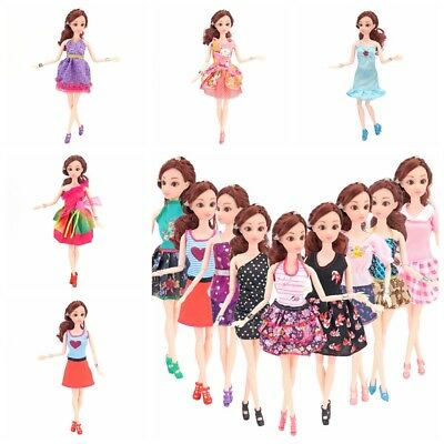 Beautiful Handmade Fashion Clothes Dress For Barbie Doll Cute Lovely Decor 5PCS