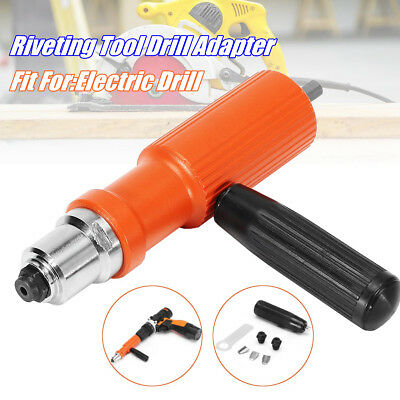 Electric Rivet Nut Gun Cordless Riveting Tool Drill Adapter For Electric Drill