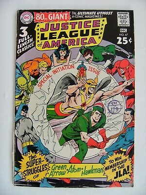 Justice League of America No.67 1968 80 page giant Neal Adams cover