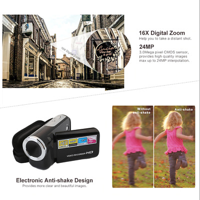 2 inch Digital Camcorder Full HD Screen 1080P 16MP Video Camera 4X Digital Zoom