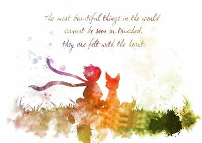 The Little Prince Quote Art Silk Poster 8x12 24x36 24x43