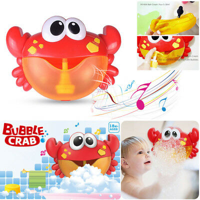 Crab Bubble Maker Automated Spout Bubble Machine Nursery Rhymes Bath Shower Toy