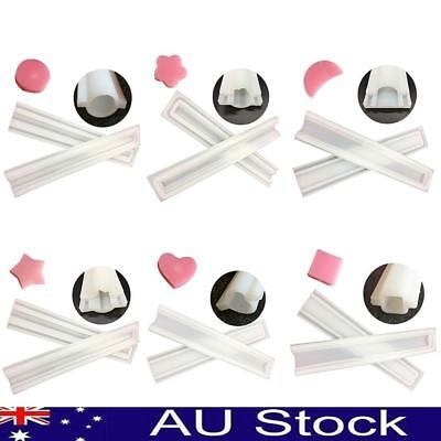 Heart Plum Blossom Star Shape Tube Pipe Silicone Soap Mold DIY Baking Tool Craft