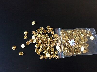 500  Pin Backs / Lapel Pin Backs / Replacements Butterfly Clutch For Disney Etc