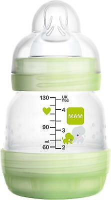 MAM Anti-Colic Baby Bottle 130ml Slow Flow Unisex Easy Start Self Sterilising