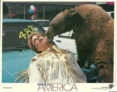 handsome Ted Danson with bear in Made in America 1993 vintage movie photo 15897
