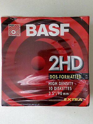 BASF 2HD Diskettes - Brand New Sealed in Box 3.5""