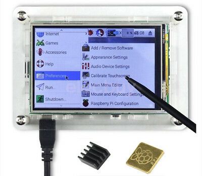 "3.5"" TFT LCD Touch Screen Display 128M SPI + Case For Raspberry Pi 3 B+ Zero W"